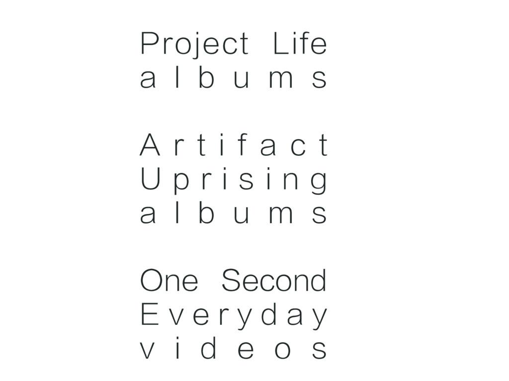 Project Life a l b u m s A r t i f a c t U p r ...