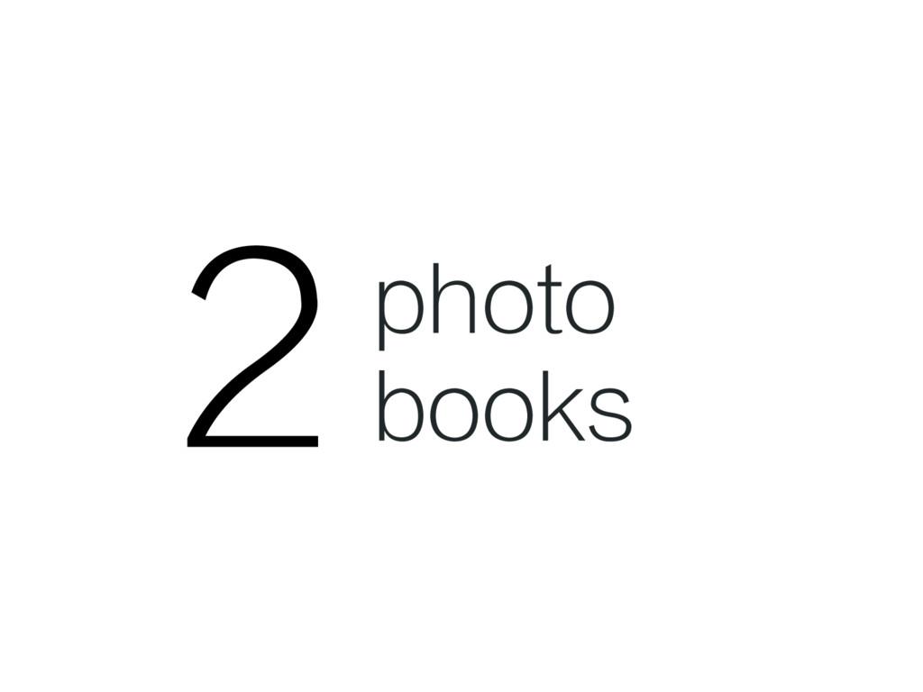 2 photo books