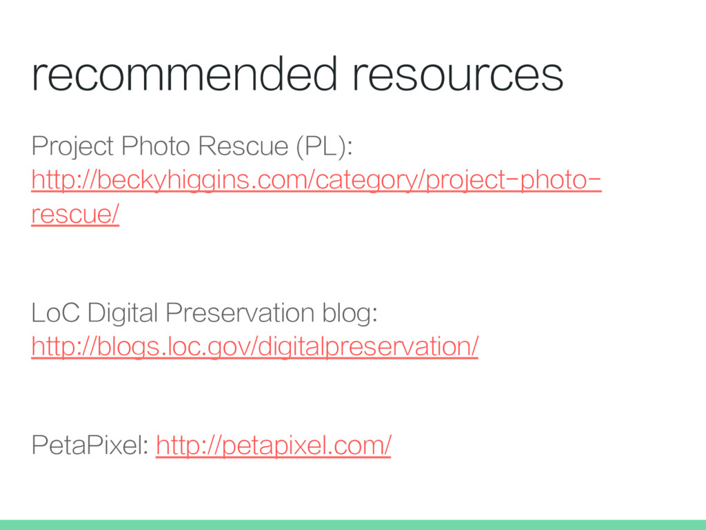 recommended resources Project Photo Rescue (PL)...