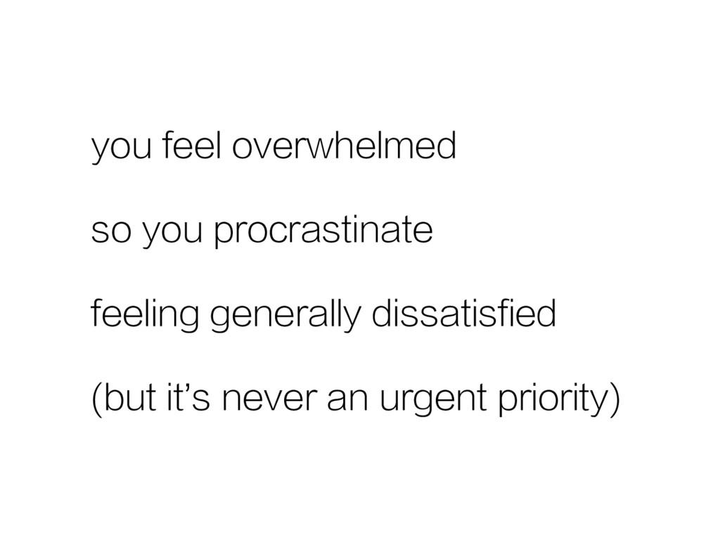 you feel overwhelmed so you procrastinate feeli...