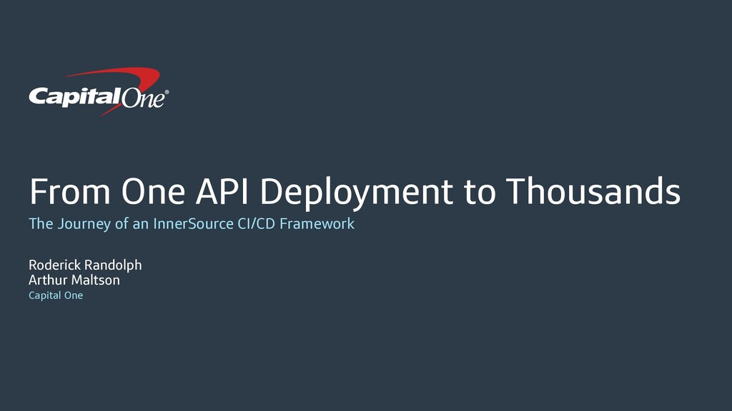 From One API Deployment to Thousands The Journe...