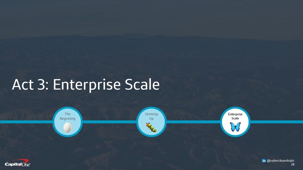 28 Act 3: Enterprise Scale Enterprise Scale  Gr...