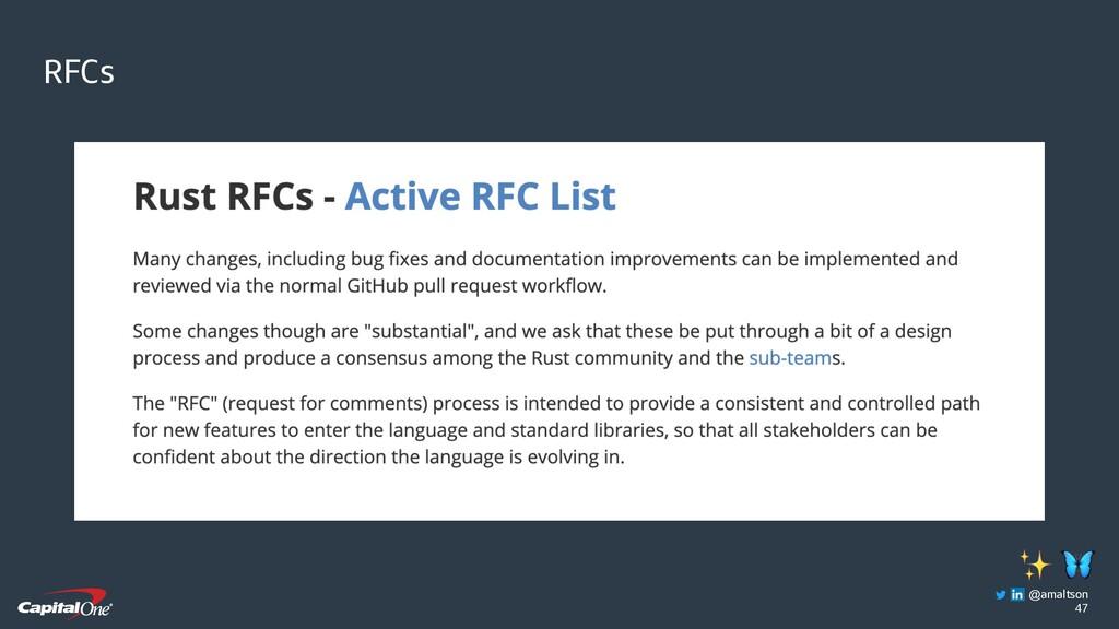 47 RFCs  ✨ @amaltson