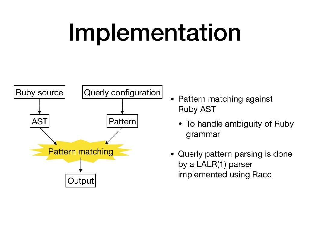 Implementation • Pattern matching against Ruby ...