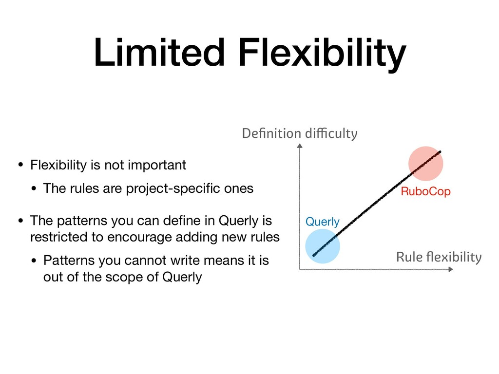 Limited Flexibility • Flexibility is not import...