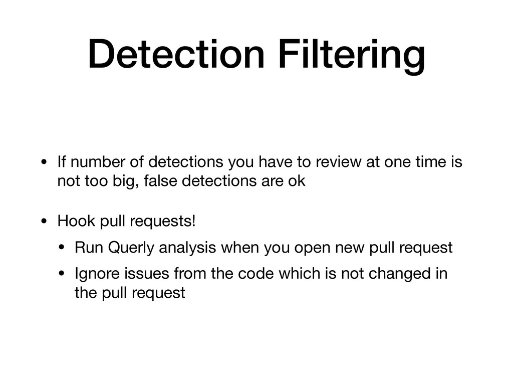 Detection Filtering • If number of detections y...