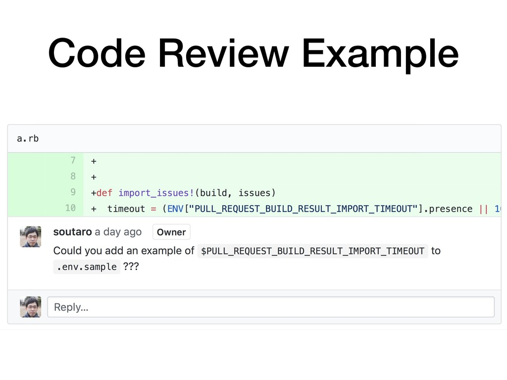 Code Review Example