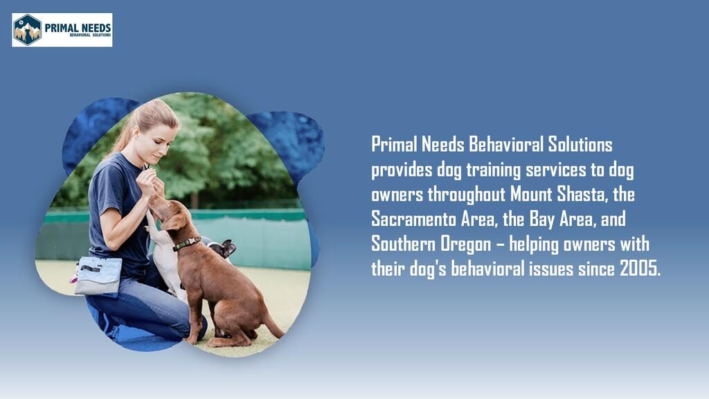 Primal Needs Behavioral Solutions provides dog ...