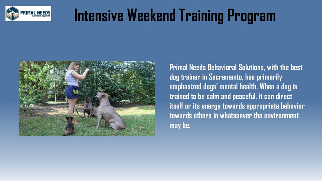 Intensive Weekend Training Program Primal Needs...