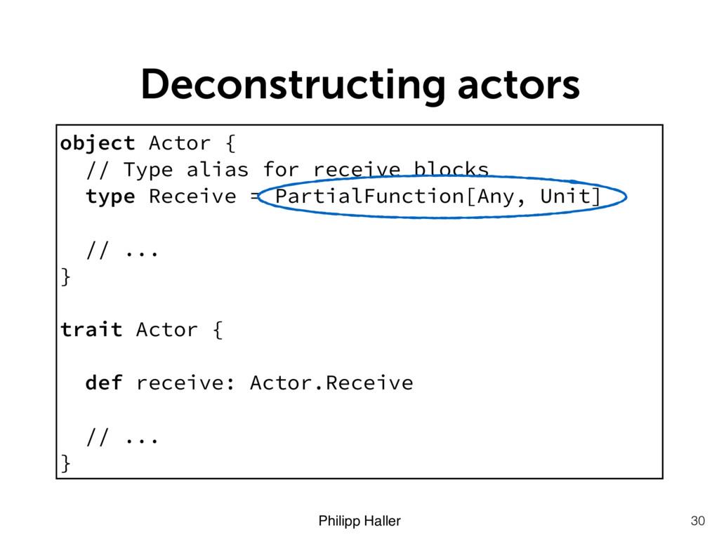 Philipp Haller Deconstructing actors 30 object ...