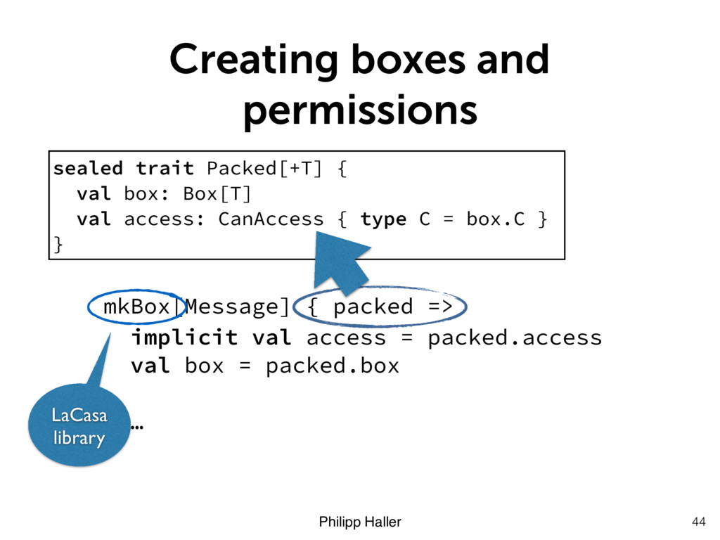 Philipp Haller Creating boxes and permissions 4...