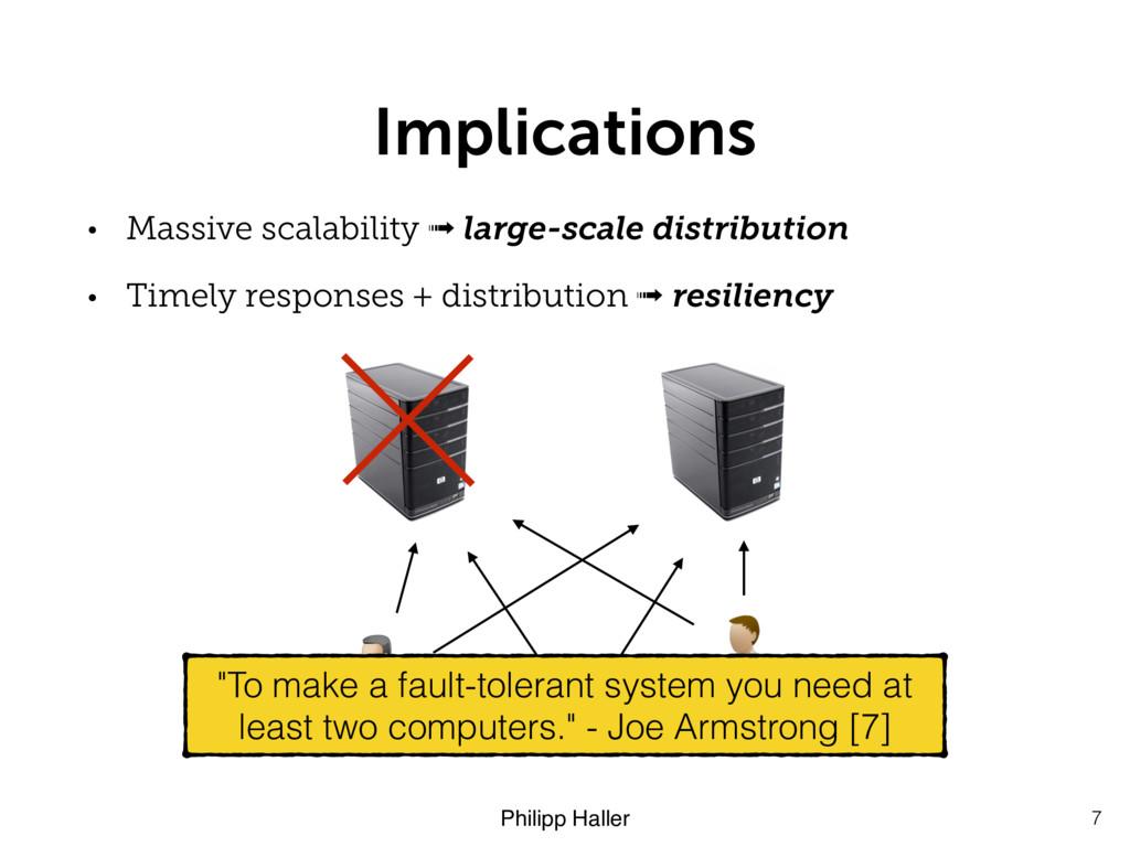 Philipp Haller Implications • Massive scalabili...