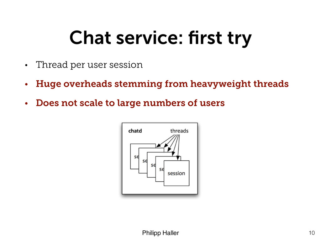 Philipp Haller Chat service: first try • Thread ...