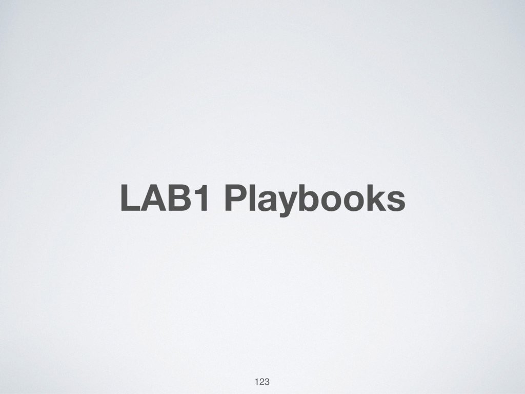LAB1 Playbooks 123