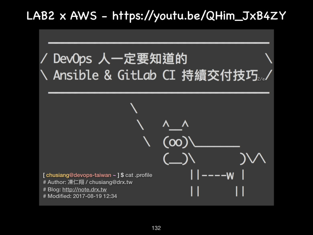 LAB2 x AWS - https:/ /youtu.be/QHim_JxB4ZY 132