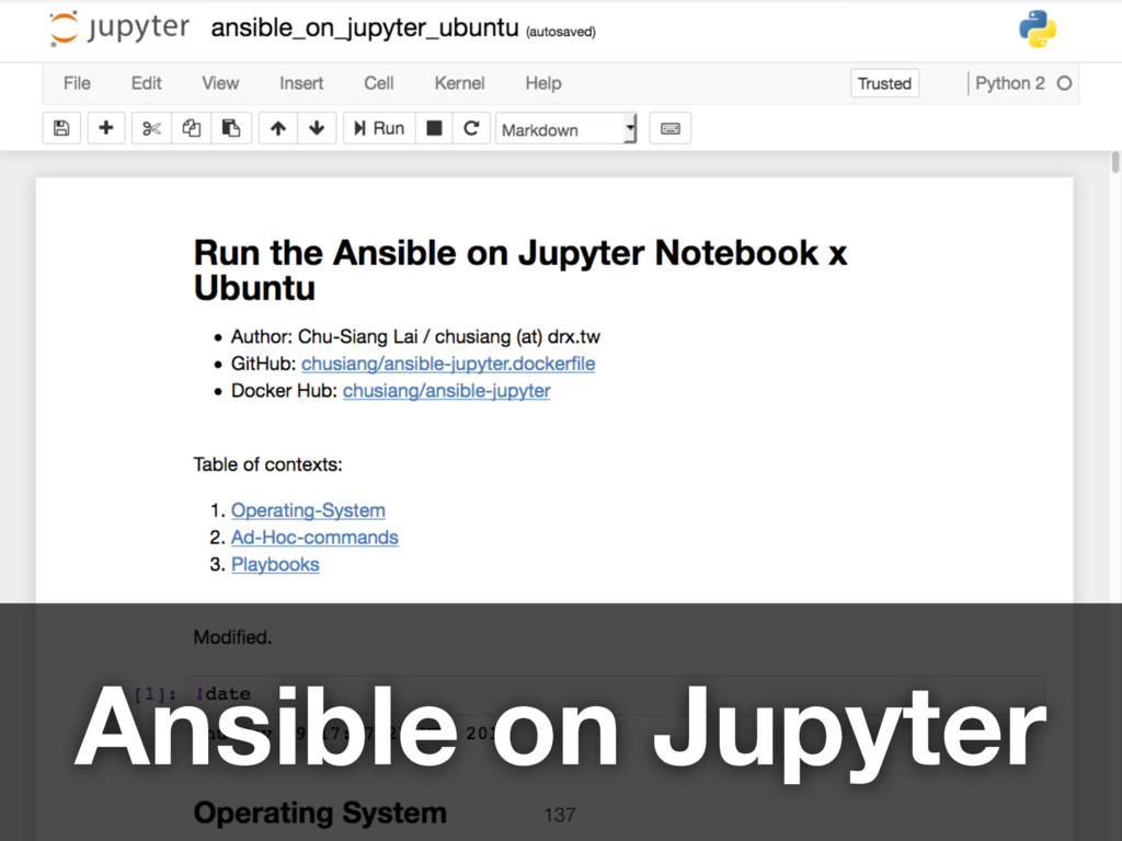 137 Ansible on Jupyter