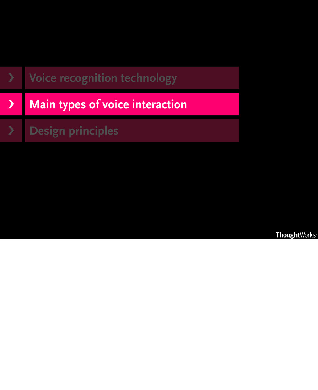 Voice recognition technology Main types of voic...