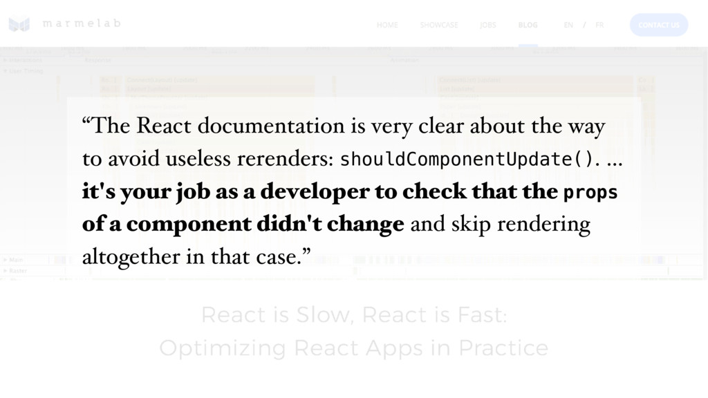 """""""The React documentation is very clear about th..."""
