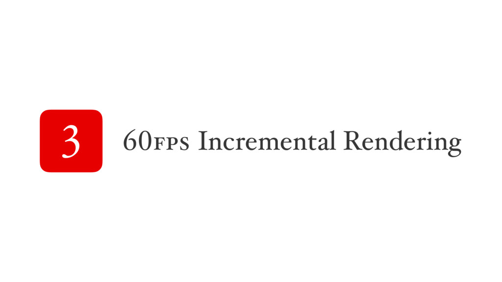 3 60fps Incremental Rendering