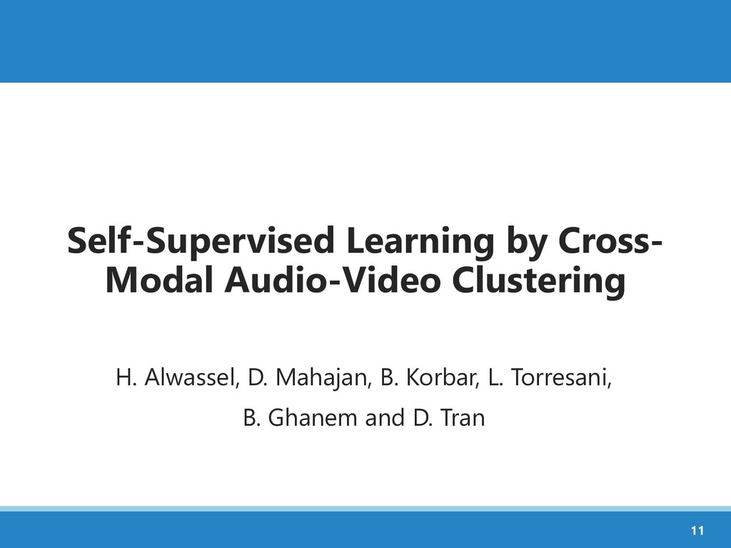 Self-Supervised Learning by Cross- Modal Audio-...
