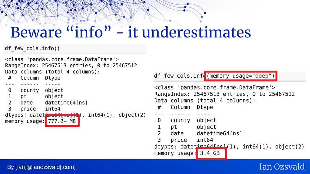 "Beware ""info"" - it underestimates By [ian]@iano..."