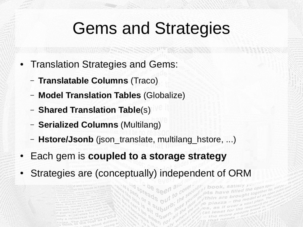 Gems and Strategies ● Translation Strategies an...