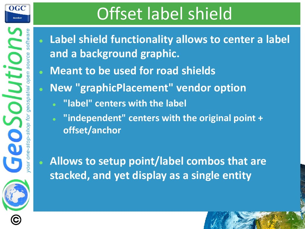 Offset label shield ⚫ Label shield functionalit...