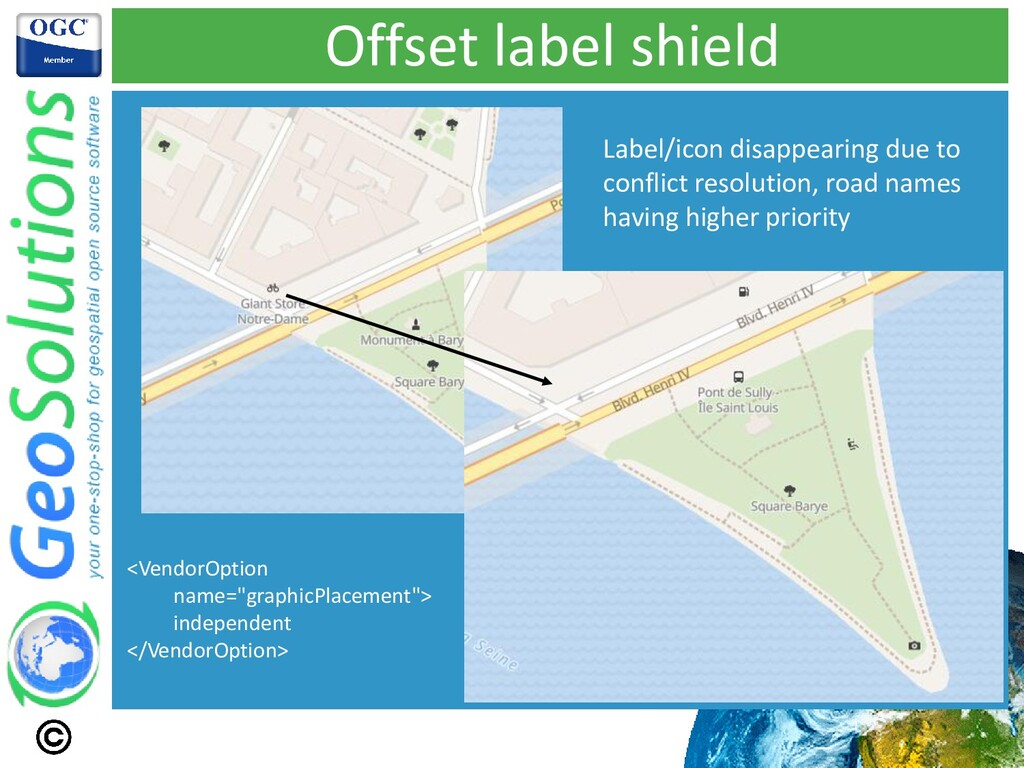Offset label shield Label/icon disappearing due...