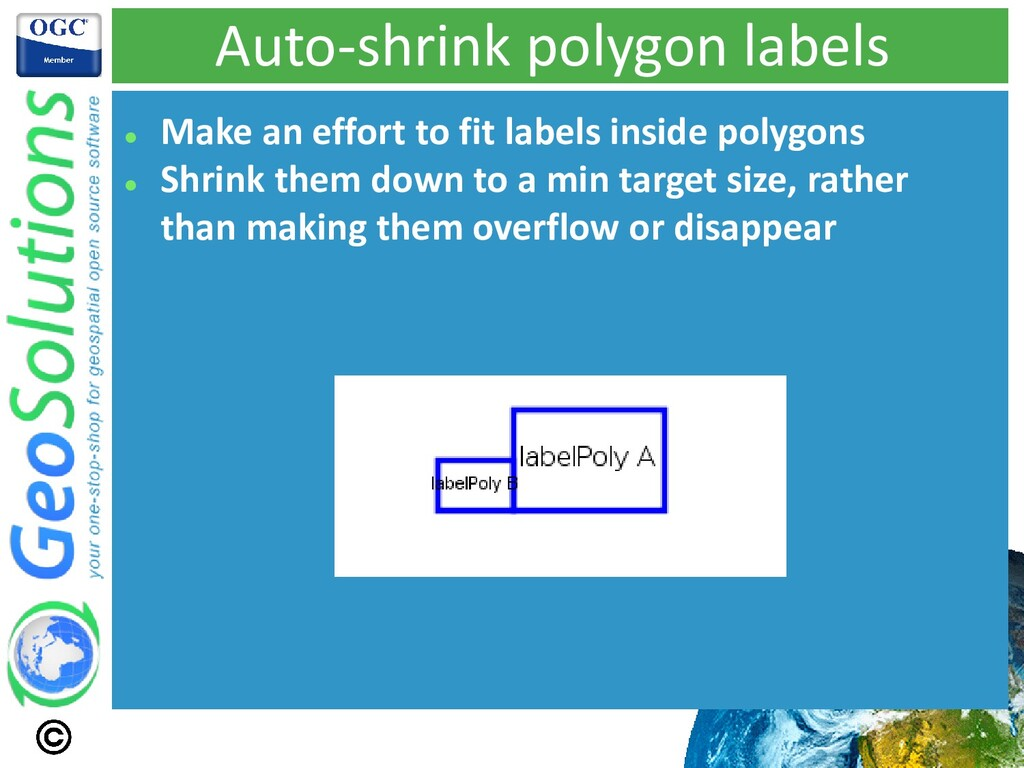 Auto-shrink polygon labels ⚫ Make an effort to ...