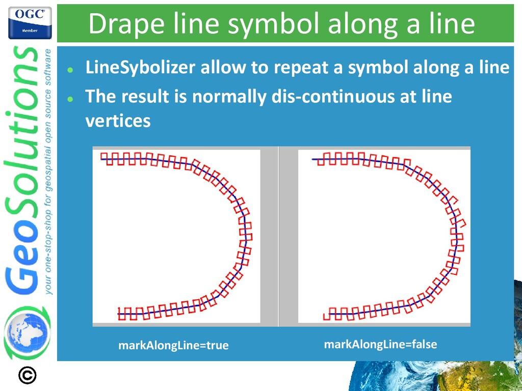 Drape line symbol along a line ⚫ LineSybolizer ...