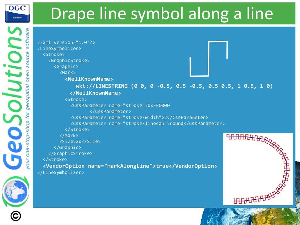 "Drape line symbol along a line <?xml version=""1..."