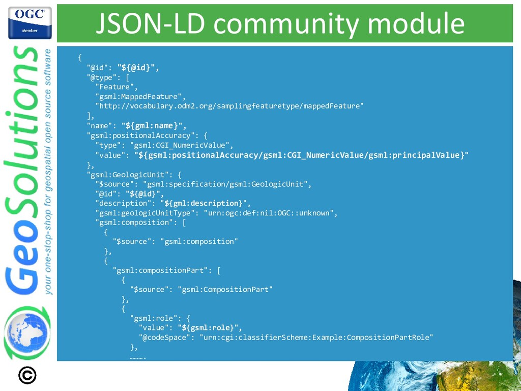 "JSON-LD community module { ""@id"": ""${@id}"", ""@t..."