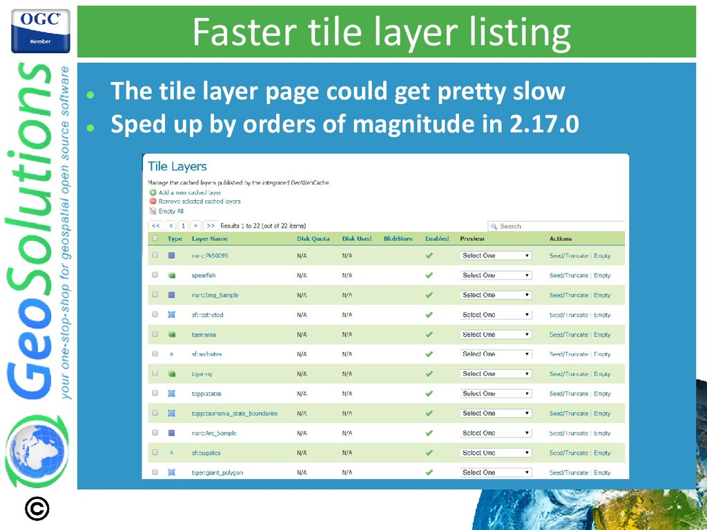 Faster tile layer listing ⚫ The tile layer page...