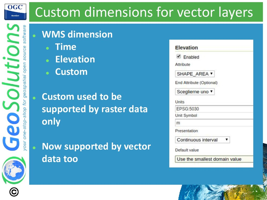 Custom dimensions for vector layers ⚫ WMS dimen...