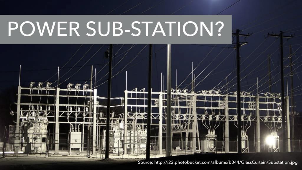 POWER SUB-STATION? Source: http://i22.photobuck...