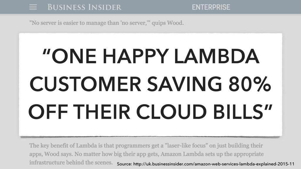 """ONE HAPPY LAMBDA CUSTOMER SAVING 80% OFF THEIR..."