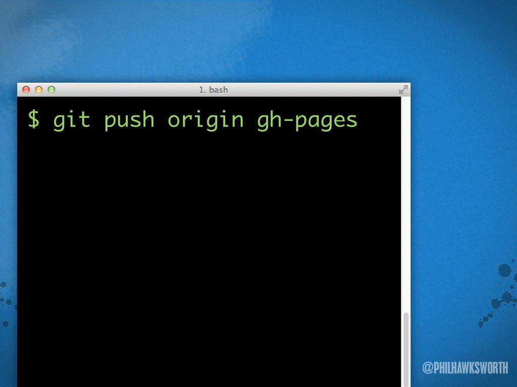 >< {}\ stu @PHILHAWKSWORTH $ git push origin gh...