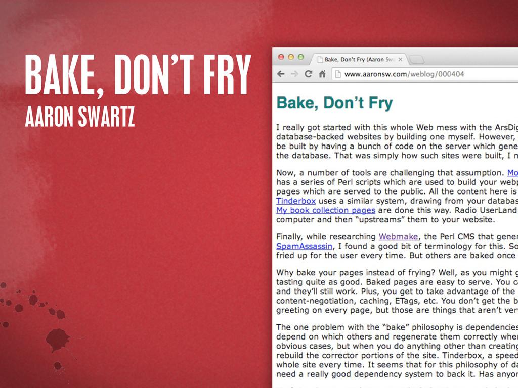 >< {}\ stu @PHILHAWKSWORTH BAKE, DON'T FRY AARO...