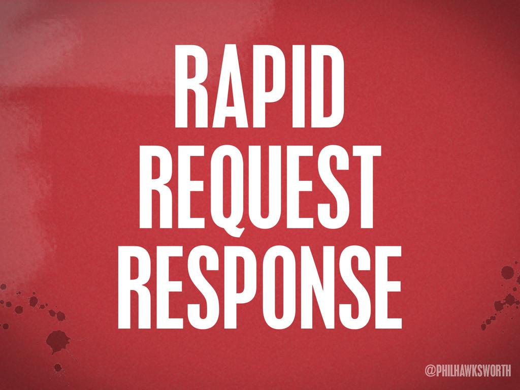 >< {}\ stu @PHILHAWKSWORTH RAPID REQUEST RESPON...