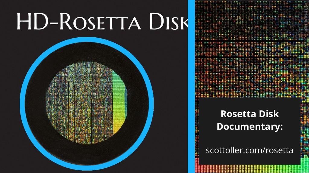HD-Rosetta Disks Rosetta Disk Documentary: scot...
