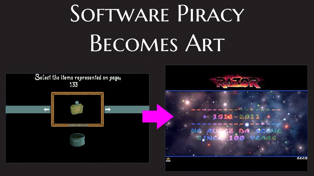 Software Piracy Becomes Art