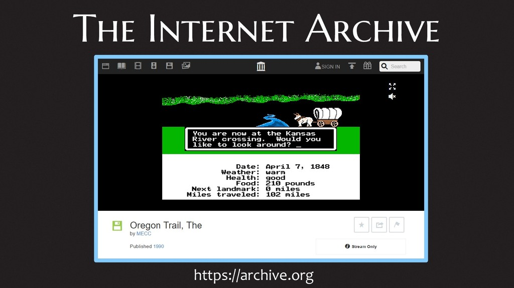 The Internet Archive https://archive.org