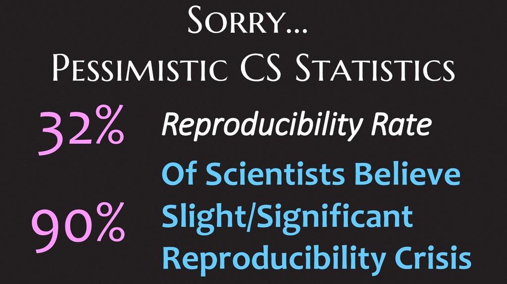 Sorry... Pessimistic CS Statistics Reproducibil...