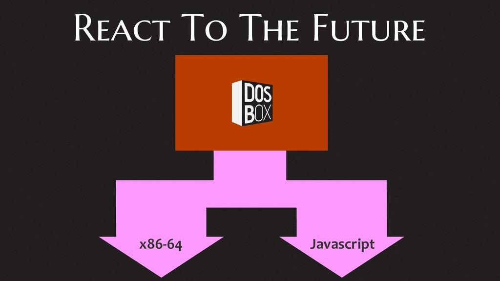 React To The Future x86-64 Javascript