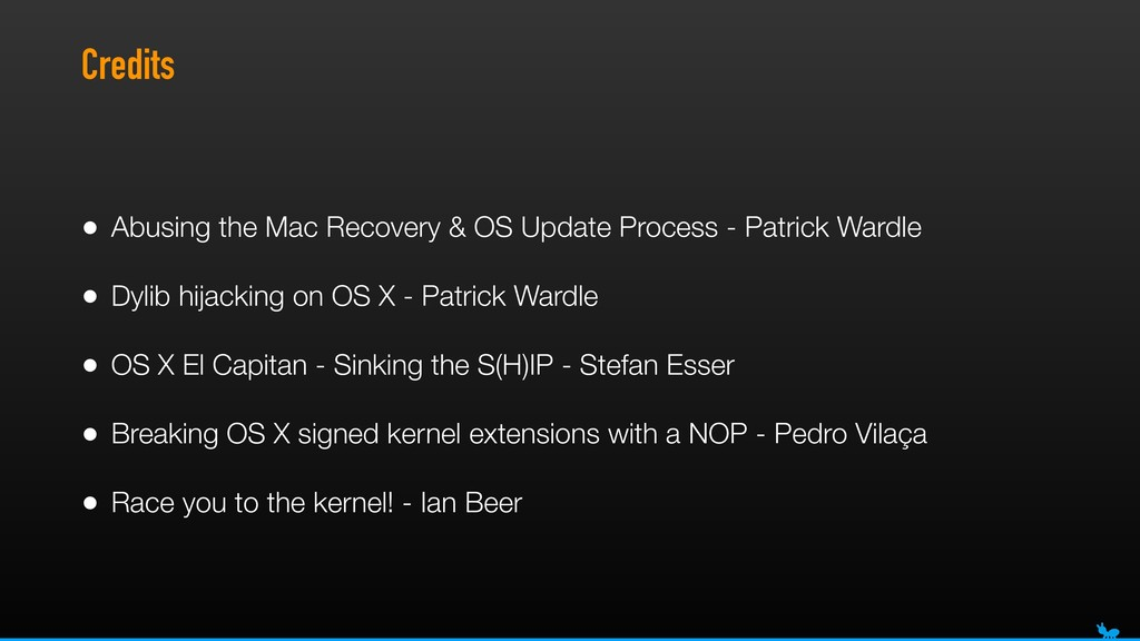Credits • Abusing the Mac Recovery & OS Update ...