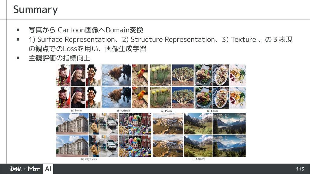 ▪ 写真から Cartoon画像へDomain変換 ▪ 1) Surface Represen...