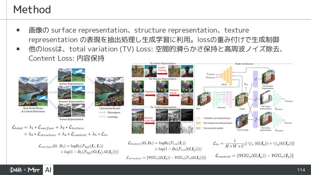 ▪ 画像の surface representation、structure represen...