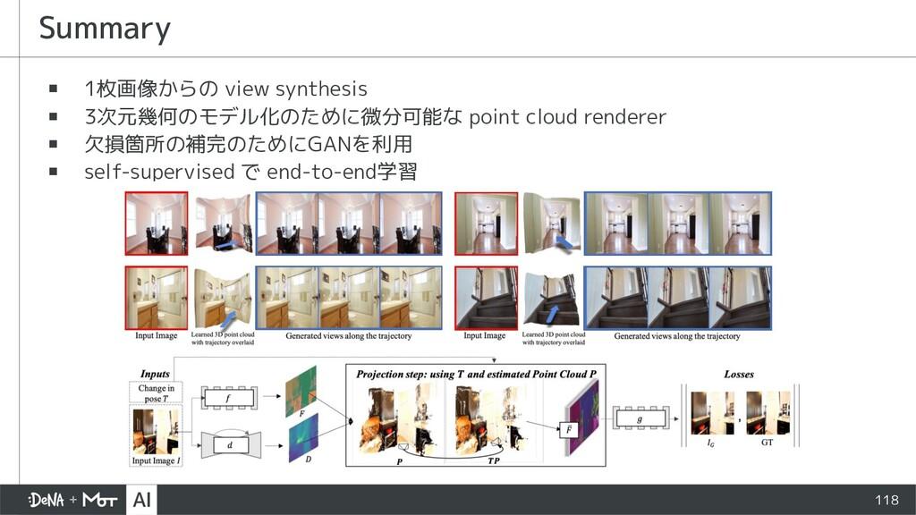 ▪ 1枚画像からの view synthesis ▪ 3次元幾何のモデル化のために微分可能な ...