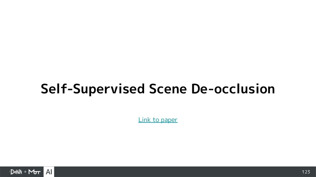 123 Self-Supervised Scene De-occlusion Link to ...