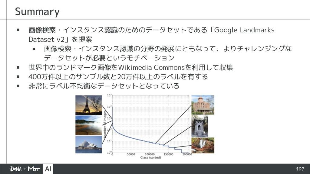 Summary ▪ 画像検索・インスタンス認識のためのデータセットである「Google Lan...